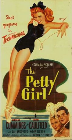 """The Petty Girl"" movie! ~ Poster by George Petty."