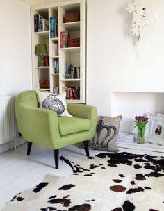 Lime green armchair = style statement
