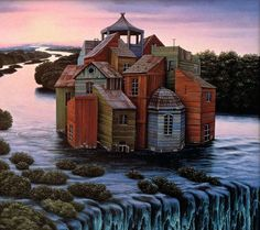 Jacek Yerka - Looking at these Jacek Yerka paintings, I find myself wondering what it'd be like living in the featured homes.  What's striking about th...