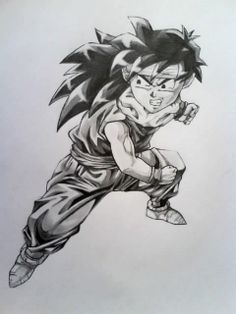 FAN ART: Dragon Ball Z: Dibujo de gohan [Peleando] por EUTANACIA