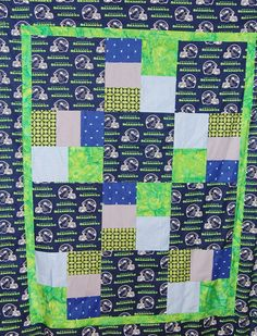 Seattle Seahawks Quilt Kit Fabric for Top and by UndercoverQuilts, $59.95
