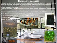 """Illuminez votre espace avec le concept modulable éclairage LEDs sans fil  L'éclairage LED sans fil sur panneaux conducteur d'électricité (mousse polyuréthane """"isolante, économique, écologique, phonique et imputrescible"""") est un concept Français conçu et fabriqué en France sous brevets."""