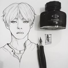 What I use for inking. CLASSIC!! Lol So inktober is here, I hope I can keep up with BTS inktober orz, I might skip few things but hopefully I wont disappoint.