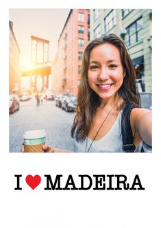 """""""I ♥ Madeira"""" or another one of our 8000+ designs as a real postcard worldwide! We offer the right card for every occasion – like """"Vacation Greetings"""""""