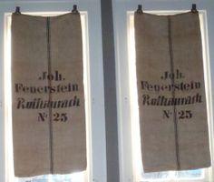 Vintage German Linen Feed Sacks World War by vagabondsandcaravans, $85.00