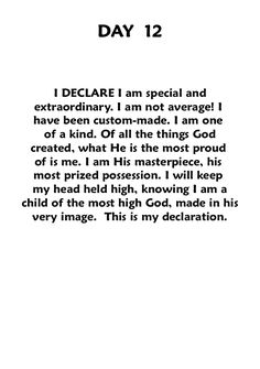 "In the Name of Jesus Christ, i Declare this! ~ Book: ""Declare,"" joel osteen."