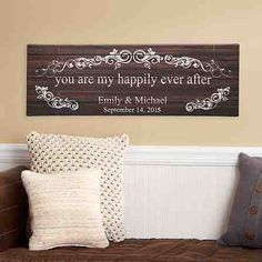 A Personal Creations Exclusive! Celebrate the love that completes your life with this romantic art canvas.
