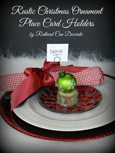 Christmas Table decoration - Card Holders