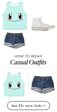 """Cute Casual"" by angelica4144xo on Polyvore featuring Converse"