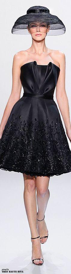 Ralph  Lauren.  Elegant short silk black dress with details. #black #fashion