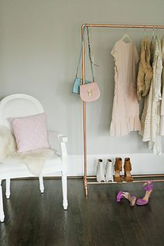DIY Copper Clothing Rack || Darling Darleen