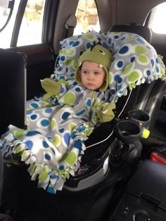 A Blanket Coat/Car Seat Cover: Baby/Toddler Blanket and Coat in one- Oversized kids poncho! Disney Frozen fabric too! on Etsy, $30.00