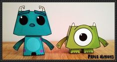 Disney: Monsters, Inc. - Sully and Mike Free Paper Toys Download