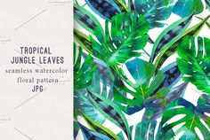 Jungle leaves seamless pattern by Tropicana on @creativemarket