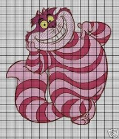 Cheshire Cat knitting chart