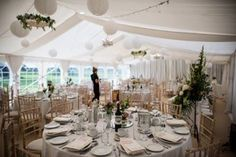 Wedding marquee all ready for the guests