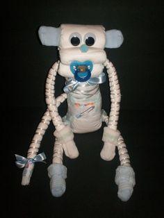 Boy Diaper Monkey Blue Baby Shower Gift CUTE by FunkyMonky on Etsy, $14.99