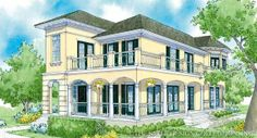 Villa Verdi - Traditional Neighborhood Design - Home Plan Styles - Sater Design Collection Plans