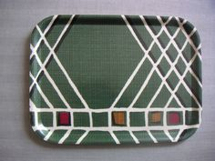 Birchwood tray with fabric (unknown design) Trays, Mid-century Modern, 1950s, Mid Century, The Originals, Fabric, Cotton, Design, Style