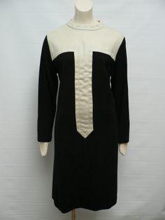 vintage 1960s black white op art shift Dress / by secreteyesonly,