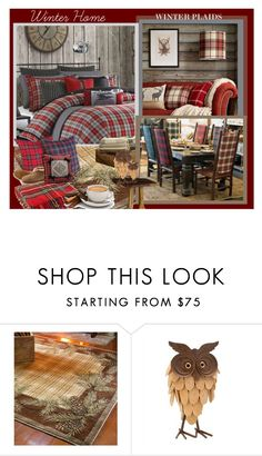 """""""Winter Home"""" by afezoftheheart ❤ liked on Polyvore featuring interior, interiors, interior design, home, home decor, interior decorating, Woolrich and BYRON"""
