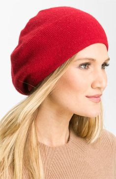In gray, tan or ivory please! Portolano Slouchy Knit Beanie available at Nordstrom