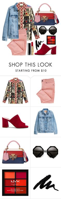 """""""Tigers"""" by yutsu ❤ liked on Polyvore featuring Gucci, Maryam Nassir Zadeh, NYX and Chanel"""