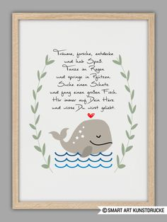 "Niedlicher Kunstdruck mit Illustration / artprint ""listen to your heart"" by SMART ART Kunstdrucke via DaWanda.com"