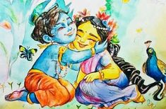 i think in these scary times we all need a hug! but who can you hug with all this social distancing? ohhh the Lord! always in your heart and never separate from you. find the peace within love Sita Krishna Leela, Lord Krishna Images, Radha Krishna Pictures, Radha Krishna Photo, Krishna Radha, Radha Rani, Little Krishna, Cute Krishna, Krishna Drawing