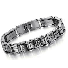 2015 Classic Europe Style Man Energy Bracelets Bangles 316L stainless steel Titanium Couple Jewelry Birthday Gift Free Shipping