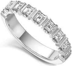 GHRC007 - Carre Cut Half Eternity Ring. 1.00cts of Carre Cut Diamonds, Bar set in to this stunning and unusual eternity ring.