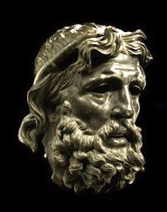 Bronze Head of Poseidon, made between 227-200 BC,