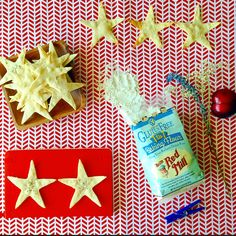 Reach for the stars with a simple gluten-free snack inspired by our NEW Gluten Free 1-to-1 Baking Flour. •	1 cup Bob's Red Mill Gluten Free 1-to-1 Baking Flour •	1 Tablespoon melted butter •	1 teaspoon olive oil •	½ teaspoon of brown sugar or honey •	½ teaspoon salt •	¼ cup water Mix all ingredients together, add water slowly until the dough can easily form a ball. Roll the dough out until it is 1/8th inch thick. Use star cookie cutters and transfer the dough cut-outs onto a cookie sheet. Bake at 400 degrees for 12 minutes or until light brown. Let crackers cool and enjoy! #glutenfree