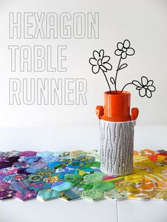 Rainbow Hexagon Table Runner tutorial