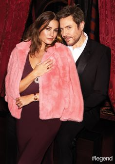 Yasmin wears a dress by Temperley London, jacket by Ermanno Scervino and watch by Chopard. Simon wears a tuxedo and shirt by Dolce & Gabbana