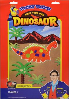 Make your own Dinosaur with Ricky Riot & Arty Toucan! $4.99