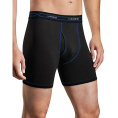 Hanes Men's TAGLESS® Ultimate X-Temp™ Boxer Briefs with Comfort Flex® Waistband Assorted 3-Pack