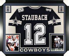 05bf71fa3c5 Roger Staubach Signed Cowboys 35x43 Custom Framed Jersey (JSA COA)