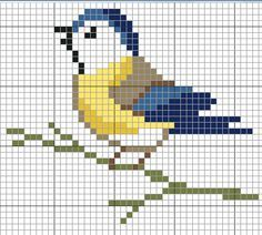 Little bird cross stitch