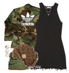 """""""1358 . Camouflage"""" by cheerstostyle ❤ liked on Polyvore featuring adidas, MCM, Edge of Ember and ALDO"""