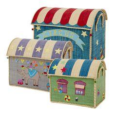 Spielzeugkorb Spielhaus Zirkus in verschiedenen Größen von rice