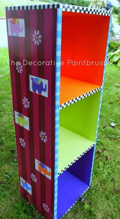 Image result for funky painted bookcases