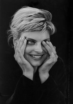 Linda Evangelista photographed by Peter Lindbergh.