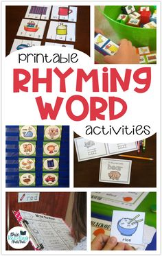 Printable Rhyming Word Activities - This Reading Mama