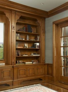 Traditional custom millwork in the study maintains architectural integrity Library Home Office Traditional by Sarah Blank Design Studio Home Interior Design, Interior Decorating, Kitchen And Bath Design, Design Bathroom, Bathroom Wall, Wall Tiles Design, Media Room Design, European Furniture, Cottage Interiors