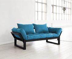 Slaapbank Edge XI, turquoise/zwart, B 180 cm