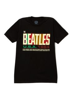 Loving this Black The Beatles 'USA 1964' Tee - Adult on #zulily! #zulilyfinds