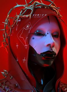 Cyberpunk Aesthetic, Arte Cyberpunk, Dark Fantasy Art, Dark Art, Alita Battle Angel Manga, Robot Concept Art, Makeup Photography, Gothic Art, Photoshoot Inspiration