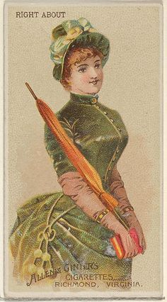 Allen & Ginter   Right About, from the Parasol Drills series (N18) for Allen & Ginter Cigarettes Brands   The Met