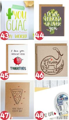 Funny, romantic cards! Perfect for Valentine's Day, an anniversary, a birthday, or just because!